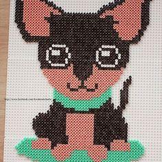 Puppy hama beads by  kreabymichaela