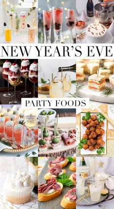 The best New Year's Eve Party Food ideas from appetizers and desserts to cocktails too! The best New Year's Eve Party Food ideas from appetizers and desserts to cocktails too! New Years Eve Dessert, New Years Eve Party, Salmon Bites Recipe, Food Network Recipes, Cooking Recipes, Non Perishable Foods, New Year's Eve Appetizers, New Year's Food, Food Food