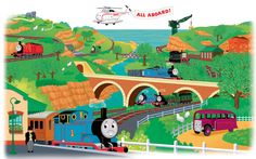 Favorite Characters 2 Piece Thomas and Friends Giant Wall Mural