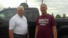 Jordan Kellam from Delphos Ohio with Randy Custer from Statewide Ford