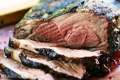 Grilled Butterflied Leg of Lamb ~ Butterflied, grilled leg of lamb, marinated first in rosemary garlic marinade.  Grilled over charcoal or gas. ~ SimplyRecipes.com