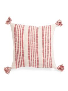 Made In India 20x20 Tassel Pillow