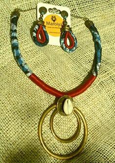 Olha menin@s que belezura de acessório!  #colar #brincos #artesanal #buzios #coresmarcantes #style