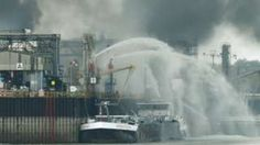 Image copyright                  Reuters                  Image caption                                      Firefighters tried to put the fire out as the smoke spread in Ludwigshafen                                At least one person has been killed and another six are missing after an explosion and fire at German chemical company BASF's headquarters in Lu