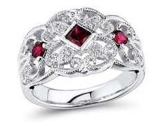 Ruby Ring In Sterling Silver $69