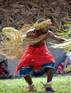 Kanak warrior on Mystery Island, Vanuatu