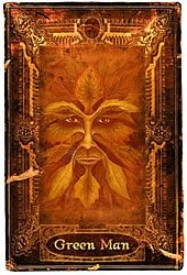 The Green Man indicates the presence of choices and powers that have not been muted by civilization. The Green Man represents the antithesis of technology and industrialization. He offers primal energies veiled in mystery and derived from the spirit of nature in its purest form.