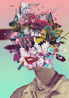 Mario Wagner. definitivamente uno de los mejores artistas contemporáneos del collage y la ilustración de caracter editorial.