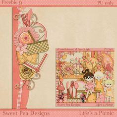 Scrapbooking TammyTags -- TT - Designer - Sweet Pea Designs, TT - Item - Element, TT - Style - Cluster