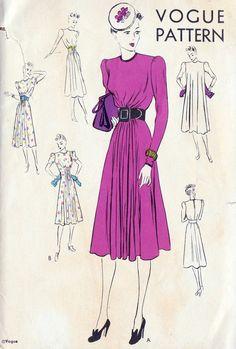 1930s Misses Dress Vintage Sewing Pattern