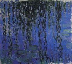 Water Lilies and Weeping Willow Branches, 1919, Claude Monet