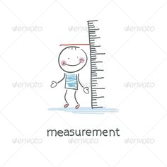 Measurement of Growth. Illustration. ...  art, background, black, botanical, botany, child, clipart, collection, concept, decoration, design, eco, ecology, environment, fashion, floral, flower, flowerpot, fresh, gardening, graphic, green, group, grow, growing, growth, icon, illustration, isolated, kid