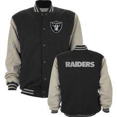 518063174c0 Oakland Raiders Cotton Twill Classic Varsity Jacket Sports   Outdoors