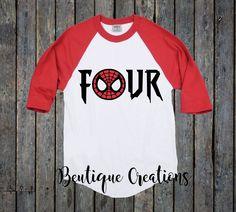 Fourth Birthday Shirt/ Toddler Shirt/ Spiderman shirt/ Avengers/ 4th Birthday…