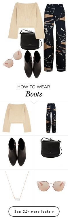 """""""Untitled #1052"""" by tammydevoll on Polyvore featuring Alexander Wang, Lancaster, Valentino, Khaite, Kendra Scott and Christian Dior"""