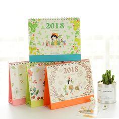2018 Diy Mesa Calendário de Mesa Para Fazer A Lista Da Cópia da Flor menina Planejador Diário Livro Mesa de Escritório Escola Suprimentos Pé Coreano