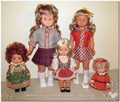 Διάφορες ιταλικές κούκλες από την δεκαετία του 1970's