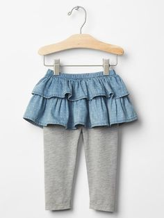 Chambray crawler skirt leggings Product Image
