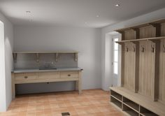 Image result for bootroom - this would be good (the right hand side of picture) but with no shelf in the pigeon holes under bench