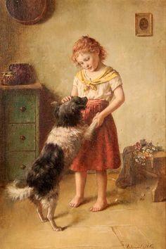 Edmund Adler - Girl With Dog
