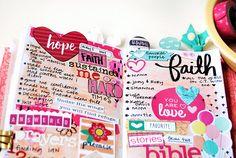mixed media art bullet journaling list by Elaine Davis | Illustrated Faith Lists by Faith featuring Cori Spieker aka The Reset Girl