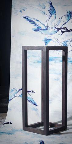 Le Voyage by Claire de Quénetain — Shop Wallpaper Crafts, Paint Effects, Animal Wallpaper, Elle Decor, Designer Wallpaper, Animals Beautiful, Claire, Fabrics, Wallpapers