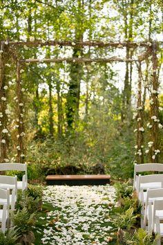 outdoor, garden, wedding, whimsical, aisle, decor,