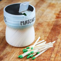 Repurposed Camping Matches Container