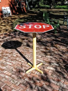 STOP Sign Bar Top Table by oneldesigns on Etsy, $225.00