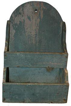 Beautiful original painted blue wallbox.