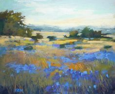 'Blue Meadows'          8x10       pastel        ©Karen Margulis available $150   I am always amazed at the ability artists have to crea...