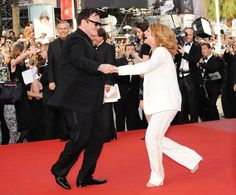 Director Quentin Tarantino dances with actress Melanie Laurent at the Inglourious Basterds Premiere held at the Palais Des Festivals during the 62nd International Cannes Film Festival on May 20th, 2009 in Cannes, France