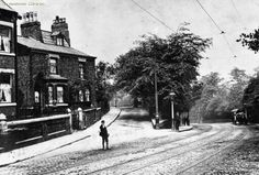 Blackley, Rochdale Road in foreground and to right - Old Road to left, at hill, Rochdale Road at Valentine Brow Boggart Hole Clough on the right 1910 Back In Time, Amazing Pictures, Old Pictures, Rochdale, Salford, Manchester City, History, Brow, Vintage Photos