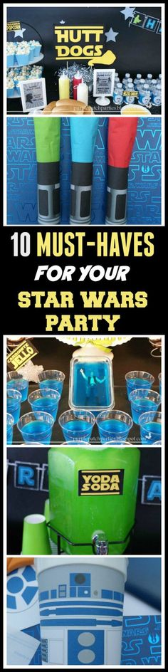 10 Amazing Star Wars Party Ideas - Star Wars Printables - Ideas of Star Wars Printables - 10 Amazing Star Wars Party Ideas Bd Star Wars, Theme Star Wars, Star Wars Bb8, Star Wars Party Food, Star Wars Food, 6th Birthday Parties, Birthday Fun, Cake Birthday, 10th Birthday