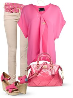 """""""Pink"""" by marincounty on Polyvore"""