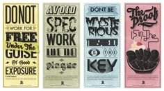 I am Designer by Ben Crick. Great Posters for all of my Design friends