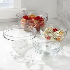 10 piece glass nesting bowls