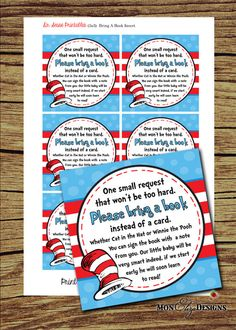 Dr Seuss Inspired Theme It's A Boy Baby Shower by MonElizaDesigns, $4.00