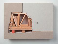 Katja Pfeiffer, Miniatur 3, 2013, 20 x 27 cm, Wood, plasterboard, cardboard