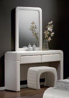 Image of Toaletní stolek TEANO toaletní stolek P00 bílá syntetická kůže