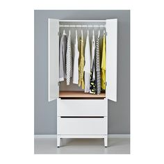 NORDLI Wardrobe IKEA The doors and drawers close slowly, silently and softly due to the integrated dampers.