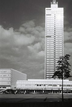 Berlin City Interhotel & Alex Grill underneath. Alexanderplatz DDR 1960's