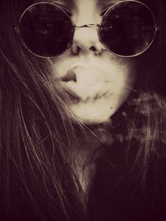 hippie chic smokin' some weed