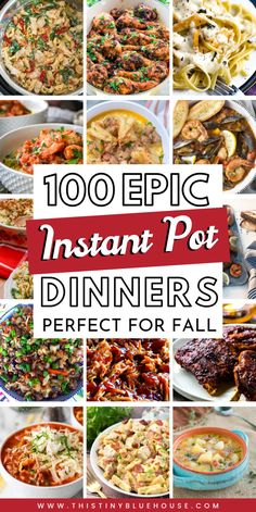 Here are delicious Instant Pot Meals divided into convenient categories including chicken, beef, pork, fish and vegetarian. This is the ULTIMATE collection of easy Instant Pot supper ideas that are perfect for busy families on busy school nights or an Instant Pot Pressure Cooker, Pressure Cooker Recipes, Pressure Cooking, Cooking Recipes, Healthy Recipes, Skillet Recipes, Cooking Tools, Pizza Recipes, Healthy Drinks