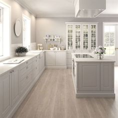 New Kitchen Cabinets Blue Gray Ideas Kitchen Wall Colors, Home Decor Kitchen, Kitchen Layout, Kitchen Living, Kitchen Interior, Gray Kitchen Walls, Kitchen Ideas, Grey Kitchens, Cool Kitchens