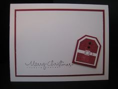 Christmas Card Stamp a Stack