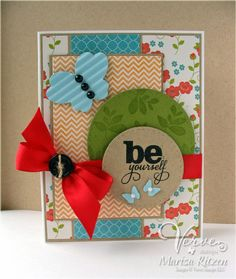 Card by Marisa Ritzen using Lean on Me and Bloom & Grow from Verve.  #vervestamps