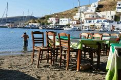 In kythnos....Happy, simple life....