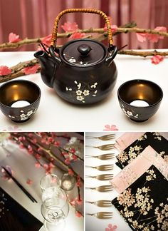 "Wedding Theme Ideas Love In Blossom Japanese Inspired Wedding - I've always had a soft spot for Asian-inspired themes, and this gorgeous, Japanese-inspired ""Love in Blossom"" theme from Jenni of A Well Crafted Party is Cherry Blossom Party, Cherry Blossoms, Japanese Theme Parties, Japanese Birthday, Party Deco, Asian Inspired Wedding, Asian Party, Sushi Party, Wedding Themes"