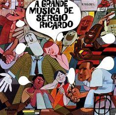 Capa do vinil A Grande Música de Sérgio Ricardo (1967)